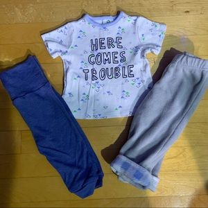 Baby boy bundle 3-6 months with evolutive pant